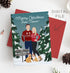 Miss Design Berry Digital Card Digital - Couple Portrait Holiday Card - Ugly Christmas Sweaters