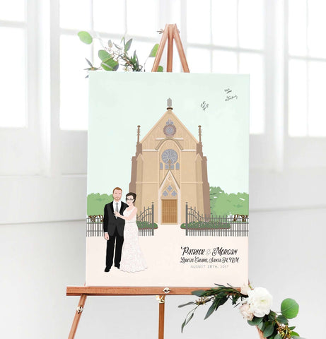 Miss Design Berry Digital Guest Book Digital - Custom Wedding Venue Guest Book Alternative - Church or Chapel