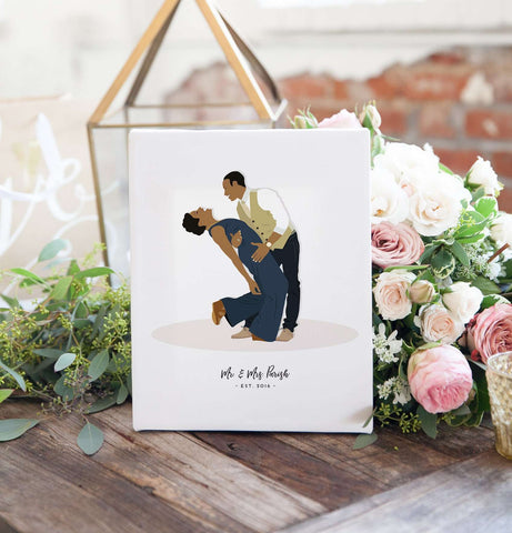 Wedding Gifts For Couple.Digital Wedding Gift For Couple Custom Pose Portrait Artwork