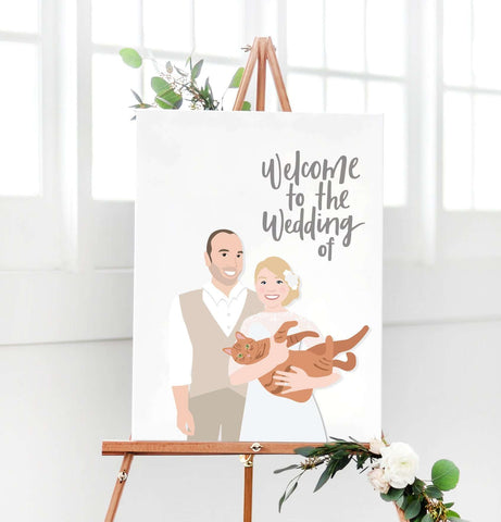 Miss Design Berry Digital Sign Digital - Portrait Wedding Welcome Sign