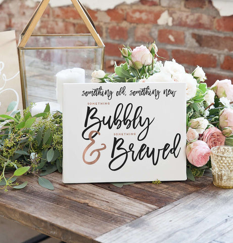 Miss Design Berry Digital Sign Digital - Wedding Bar Sign - The Penny