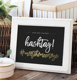 Miss Design Berry Digital Sign Digital - Wedding Hashtag Sign - The Penny