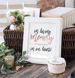 Miss Design Berry Digital Sign Digital - Wedding In Loving Memory  Sign - The Penny