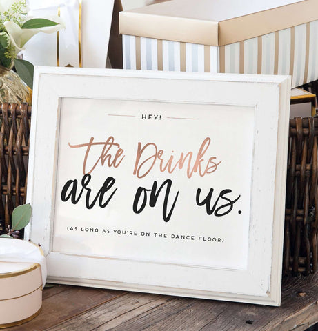 Miss Design Berry Digital Sign Digital - Wedding Open Bar Sign - The Penny