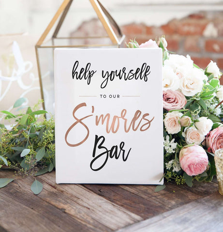 Miss Design Berry Digital Sign Digital - Wedding S'mores Bar Sign - The Penny
