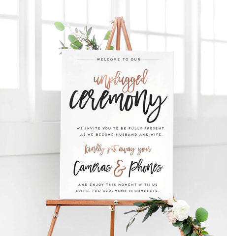 Miss Design Berry Digital Sign Digital - Wedding Unplugged Ceremony Sign - The Penny
