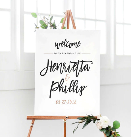 Miss Design Berry Digital Sign Digital Wedding Welcome Sign - The Penny