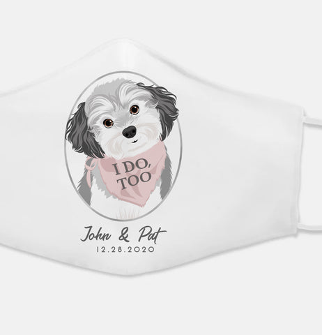 Miss Design Berry Dog of Honor Wedding Face Mask