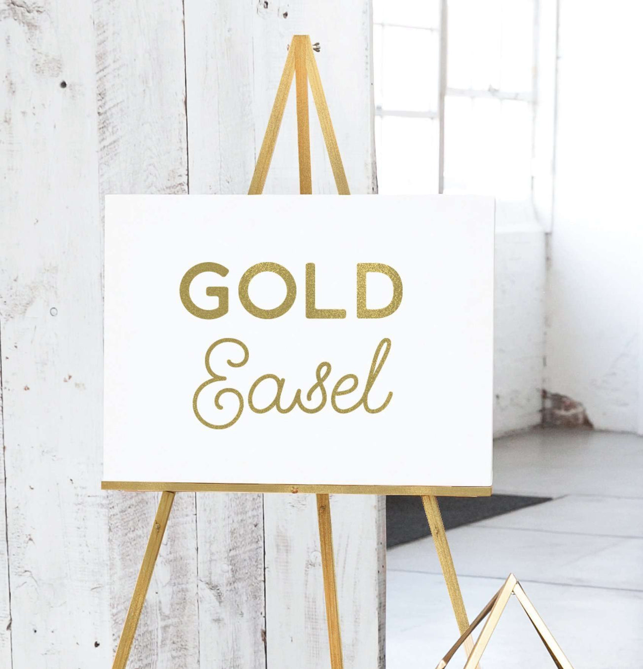 floor display easel gold
