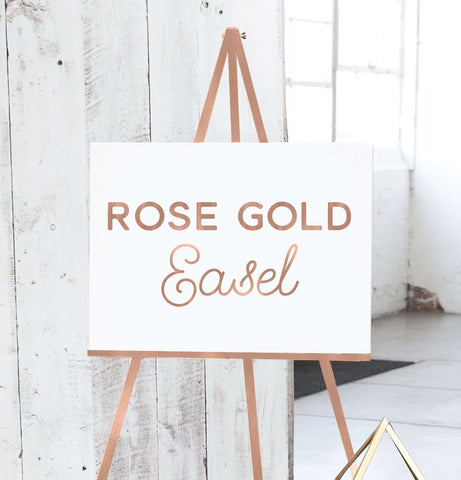 Miss Design Berry Easel Floor Display Easel - Rose Gold