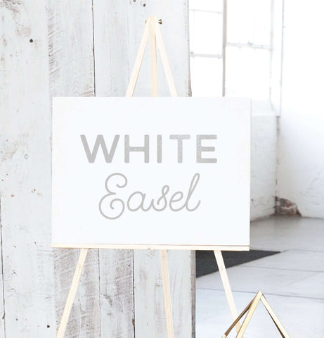 Miss Design Berry Easel Floor Display Easel - White