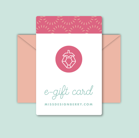 Miss Design Berry Gift Card Gift Card