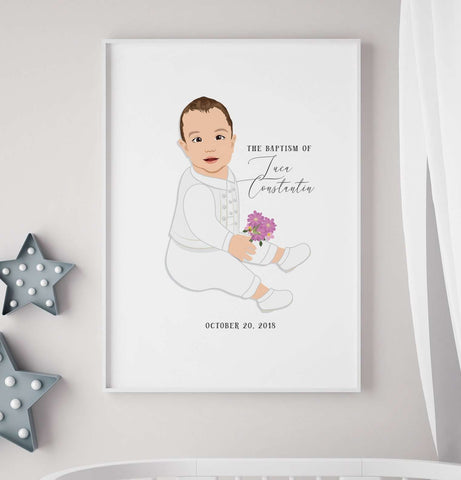 Miss Design Berry Guest Book Alternative Baptism or Christening Guest Book Alternative with Baby Portrait