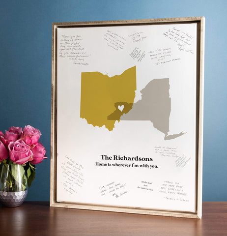 Miss Design Berry Guest Book Alternative Copy of Wedding Guest Book Alternative with Map