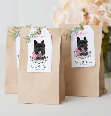Miss Design Berry Hanging Tags with Pet Portrait - Favor Tags