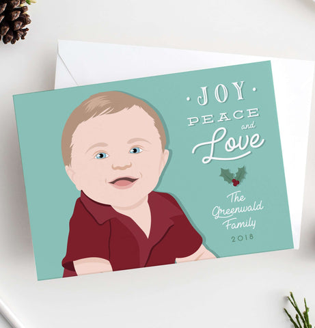 Miss Design Berry Holiday Cards Child Portrait Holiday Card
