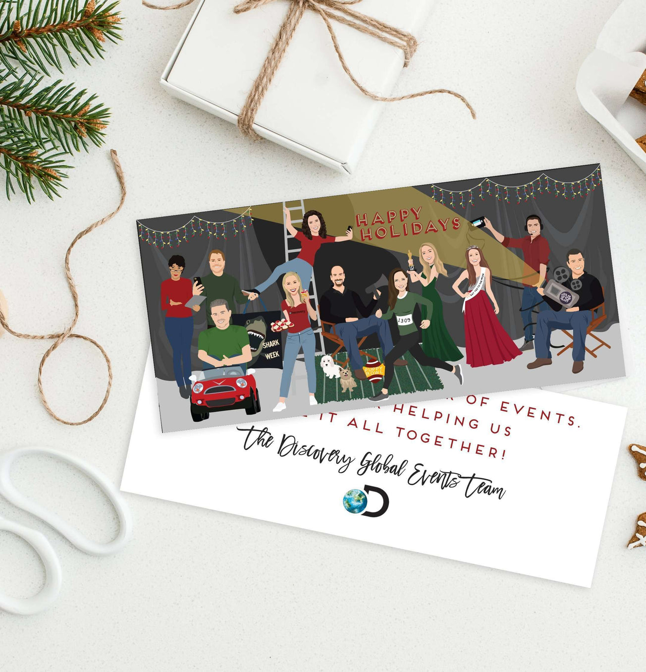 Company Holiday Cards For Corporate Or Small Business Portraits