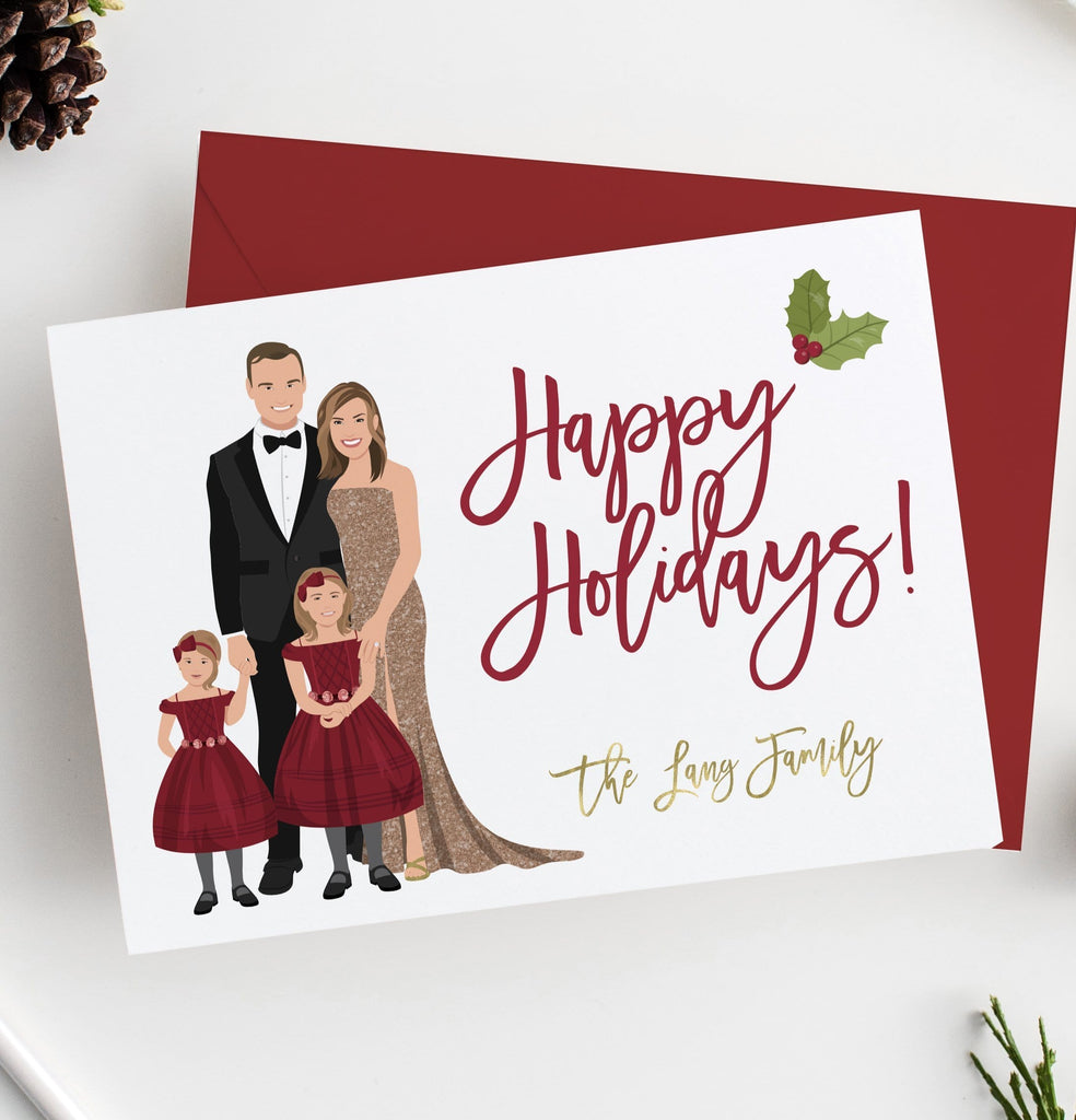 family portrait holiday cards  digital
