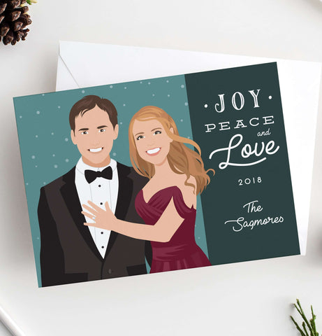 Miss Design Berry Holiday Cards Holiday Cards with Couple Portrait
