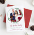 Miss Design Berry Holiday Cards Holiday Cards with Couple Portrait in Wreath