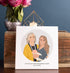 Miss Design Berry Illustrated Ceramic Tile with Mother Daughter Portrait + Custom Text