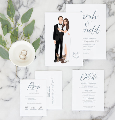 Miss Design Berry Invitation Portrait Wedding Invitation Suite - The Ella