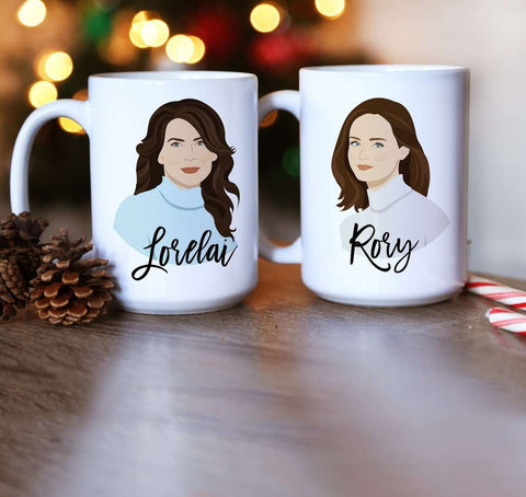 Miss Design Berry Mug Gift Set Rory and Lorelai Gilmore Mugs Gift Set