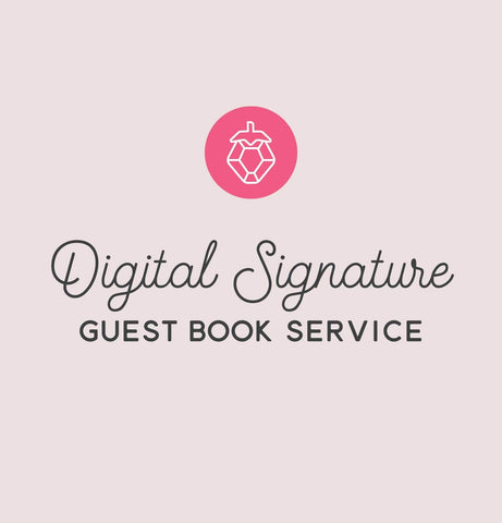 Miss Design Berry order add-on Digital Signatures Guest Book Service for Virtual Wedding