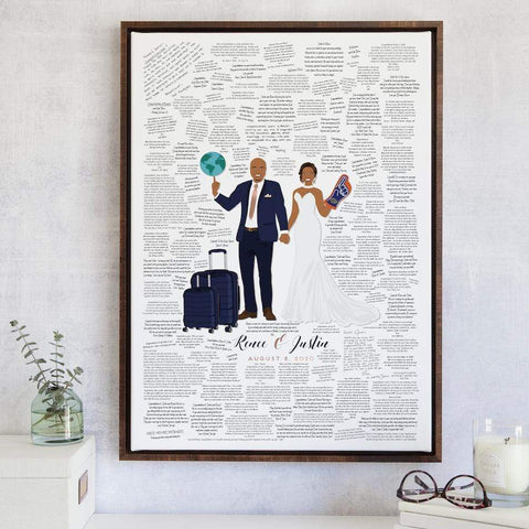 New York City Skyline and Initials Guest Book Alternative Wedding Guestbook Print in DIGITAL format Personalized in Your Choice of Size