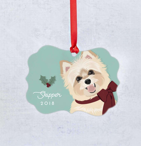 Miss Design Berry Ornament Christmas Ornament - Custom Pet Portrait
