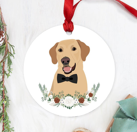 Miss Design Berry Ornament Pet Portrait Christmas Ornament