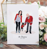 Miss Design Berry Personalized Gift Couple Portrait Illustration Print
