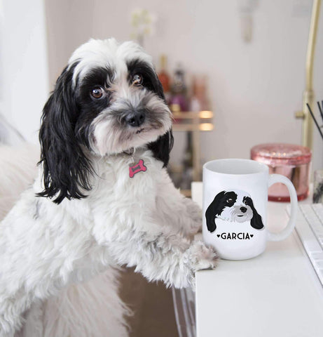 Miss Design Berry Personalized Gift Custom Pet Portrait Mug