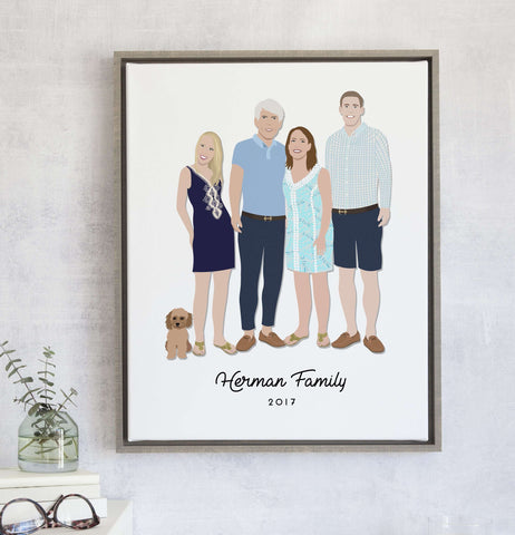Miss Design Berry Personalized Gift Family Portrait Illustration - Personalized Gift & Family Portrait Illustration - Personalized Gift