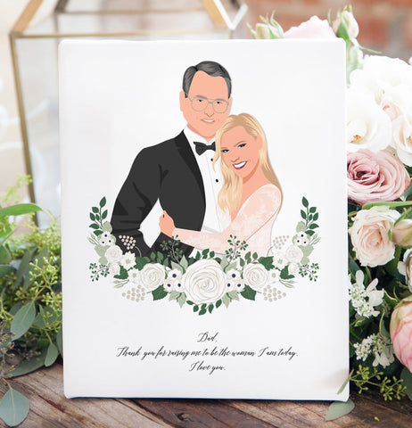 Miss Design Berry Personalized Gift Father of the Bride Portrait gift