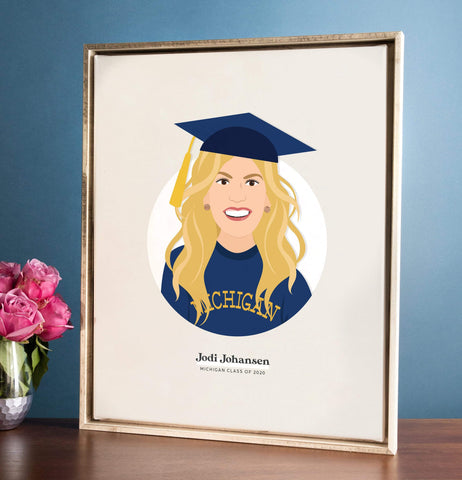 Miss Design Berry Personalized Gift Graduation Portrait