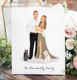 Miss Design Berry Personalized Gift Matte Paper / 8x10 Couple Portrait Illustration Print - First Anniversary Gift