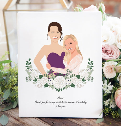 Miss Design Berry Personalized Gift Mother of the Bride Portrait Gift