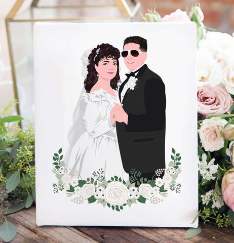 Miss Design Berry Personalized Gift Parent or Grandparent Wedding Photo Illustration