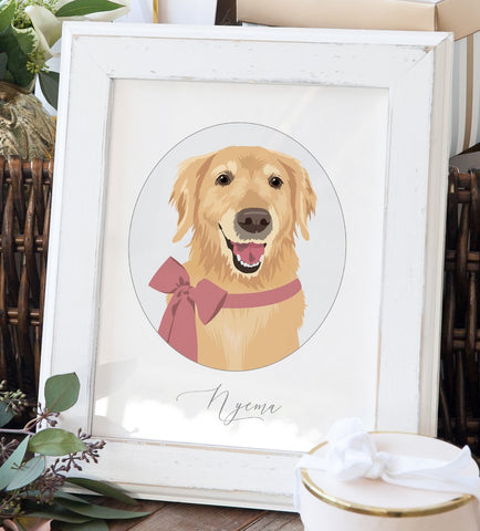 Miss Design Berry Personalized Gift Personalized Pet Portrait - Gift for Pet Lover