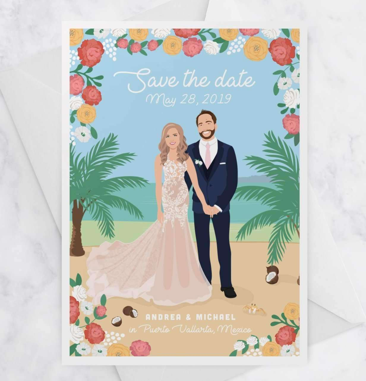 Wedding Save The Dates.Destination Wedding Save The Date Cards