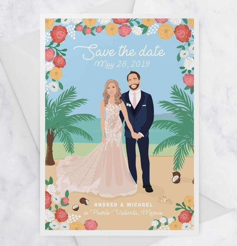Miss Design Berry Save the Dates Destination Wedding Save the Date Cards