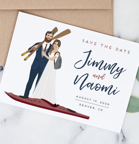 Miss Design Berry Save the Dates Portrait Save the Dates with Your Custom Theme or Hobby