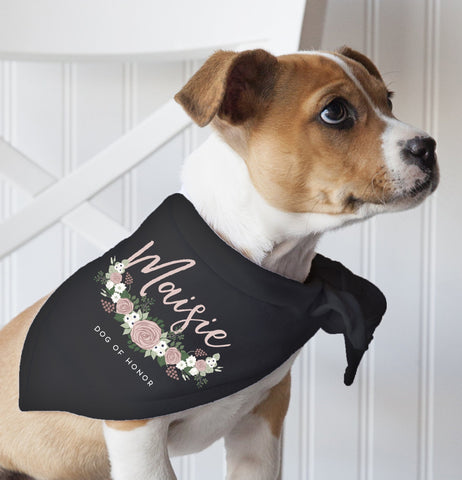 Miss Design Berry Sign Custom Dog of Honor Bandana