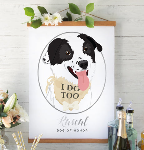 Miss Design Berry Sign Dog of Honor Wedding Sign