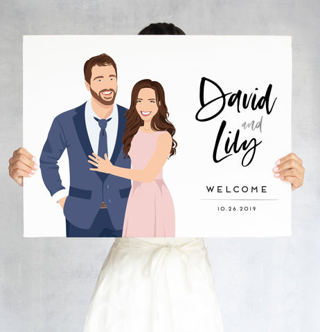 Miss Design Berry Sign Portrait Welcome Sign for Wedding - The Lily