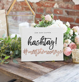 Miss Design Berry Sign Wedding Hashtag Sign - The Penny