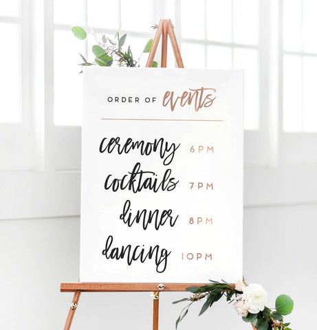 Miss Design Berry Sign Wedding Sign - Order of Events Sign - The Penny