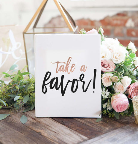 Miss Design Berry Sign Wedding Sign - Take a Favor Sign - The Penny