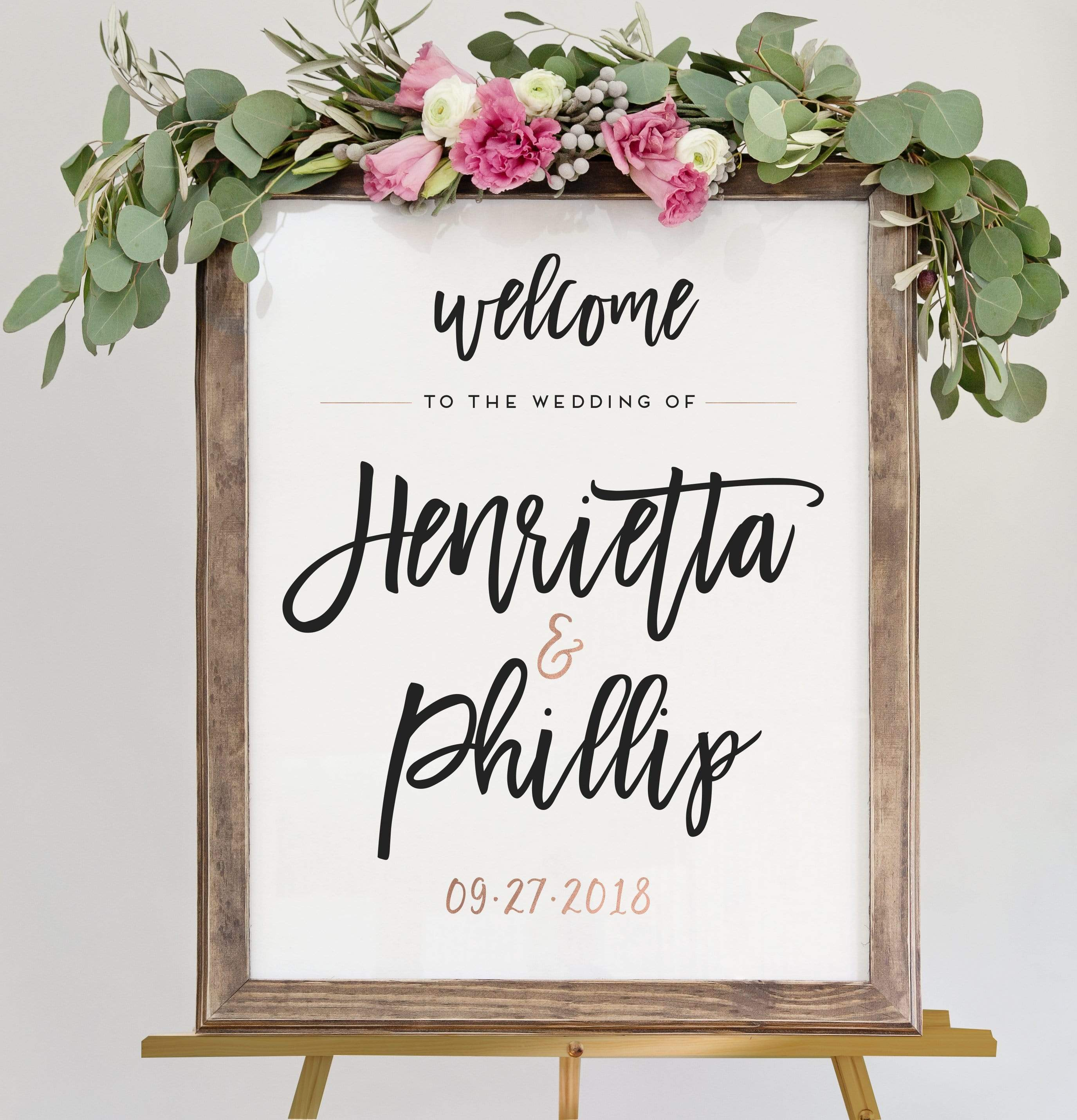 Wedding Welcome Sign - The Penny